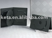 14mm 4 discs Black DVD Case with one tray