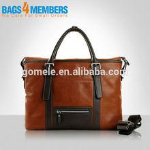 2015 Men bag brown leather messenger bag/men dispatch Bag/ Men's executive briefcase bag