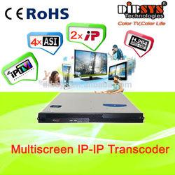 12 channels mpeg-2 to H.264 IPTV Transcoder/encoder