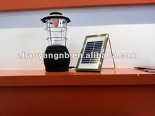 Solar rechargeable 5 led camping lantern