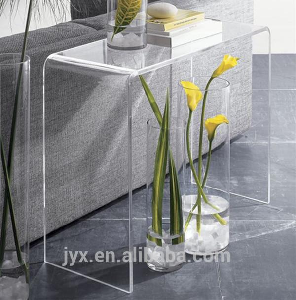 Longue et troite meubles de salon acrylique plexiglas for Meubler salon etroit