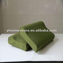Thermal bond hard felt memory foam military pillow
