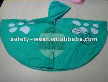 2014 Children's rain poncho made of PVC