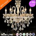 Venda quente luxo lustre de cristal modernos com 12,10,8,6,5,4,3 luzes de alta qualidade