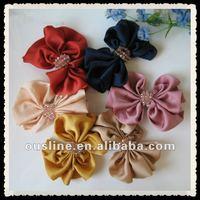 goody girls crystal decorative satin bow headwear