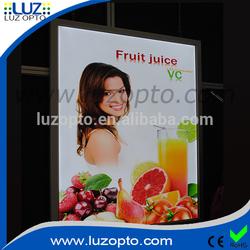 edge lit picture frame lights,snap frame lightbox b1,24x36 size advertising aluminium led light frame
