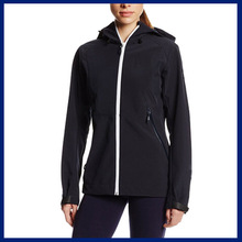 2015 Trendy Design Outer Wind Stop 3-Layer Women Softshell Jacket