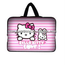 2015 Cute Pink Hello Kitty Neoprene Laptop Sleeves/Laptop Bag/Table PC bag,made of Neoprene