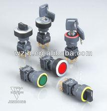22m/16mm momentary key push button switch (2 segment/3 segment)