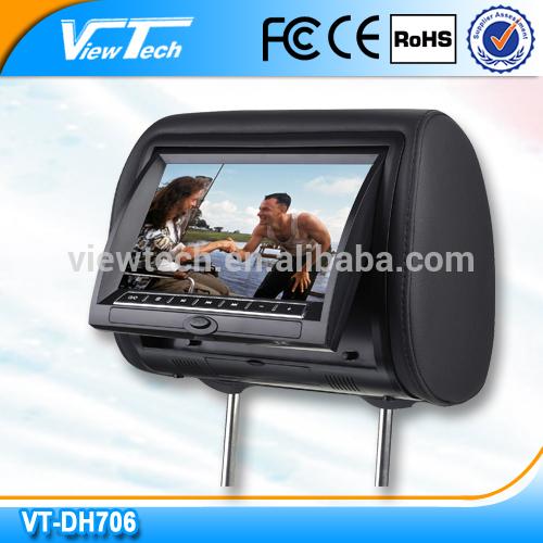 """High stability 7"""" car headrest dvd"""