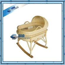 rattan bassinet swinging baby crib