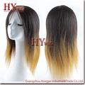 Melhor venda de moda 100% peruca de cabelo humano