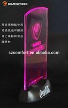 2014 cheap customized colorful menu holder, newest promotional LED menu holder