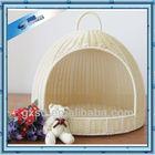 Cheap plastic rattan oval white pet kennel plastic pet basket