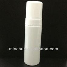 150ml white foam bottle with white cap