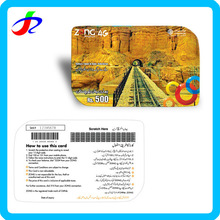 guangzhou wholesale prepaid paper pin number scratch card inkjet printing for mobile phones
