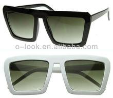 Geometric Bold Flat Top Retro Celebrity Inspired Super Square Sunglasses
