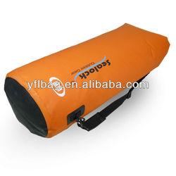 orange waterproof dry bag for beach