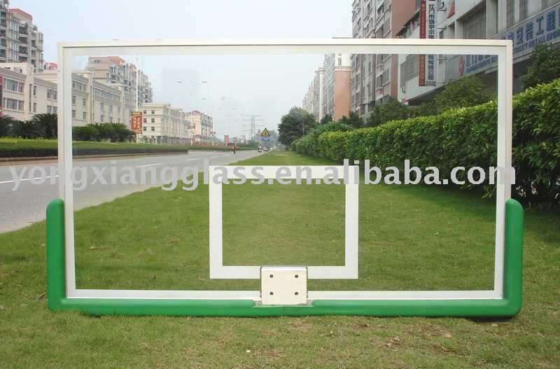 Indoor clear glass basketball backboard