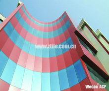 ZTL-1120 Sparking Black aluminum plastic composite wall cladding and facade panels