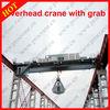 Double girder 10 ton overhead grab crane