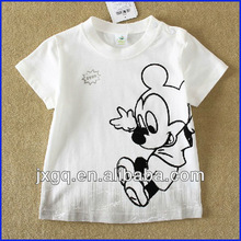 New style children printed tee shirts wholesale 100 cotton white custom tee shirts