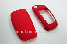 Red Hard Plastic Keyless Remote Key Fob Remote Flip Key Protection Case Cover For Audi A3 A4 A5 A6 TT Q5 Q7