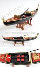 Venise gondole peint noir ( nouveau ) en bois faits à la main bateaux