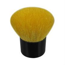 yellow hair make up brush,short handle cosmetics