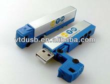 Full of childishness cute custom USB flash drive OEM real capacity plastic pendrive terpel in China