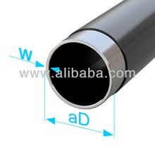 Plastic-coated precision steel tube