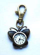 Hotting clock bronze keychain,clock watch key holder