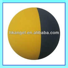 eco-friendly rubber ball with yellow and blue