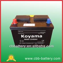 58500 dry vehicle battery 12v60ah diesel dry cell battery