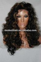 Hot selling!!! full lace long synthetic hair wigs with baby hair for women