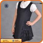 Black Dress With Ruffles Beautiful Girl Without Dress