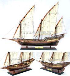XEBEC Wooden Model Boat