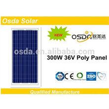 TUV high efficiency poly panel solar 300w