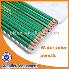 Watercolor pencil metal box ,wooden watercolor pencil