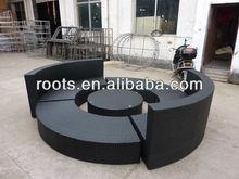 wicker rattan sofas outdoor furniture Circular sofa bed