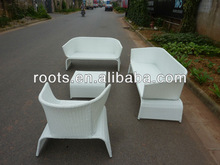 outdoor furniture high back rattan sofa set 6 seats