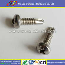Stainless Steel Phillips Round Head Self Drilling Screws #10