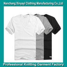 2014 Deep v neckline tee shirt Wholesale China/100% Cotton t shirt Wholesale China Online Shopping