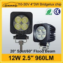"high quality 10-30v 2.5"" 12w 960LM commercial electric led work light, led work light"