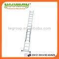 En131 de aluminio 2-section combinación escalera AC0209A de aluminio escalera / de aluminio paso escaleras / loft escaleras