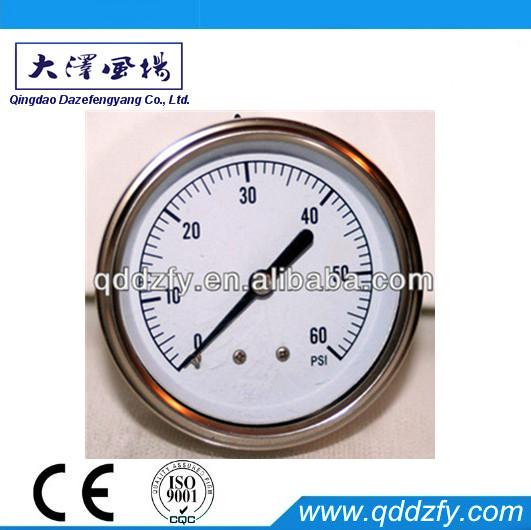 ABS Plastic or Painted Steel Case bourdon tube pressure gauge
