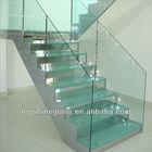 Tempered frameless glass railing