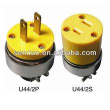 American style Plug and Socket U44, U44T
