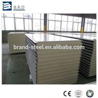 B.R.D New materials Fireproof wall panel roof panel Polyurethane PU Sandwich Panels