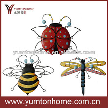 Metal decorative colorful insect craft